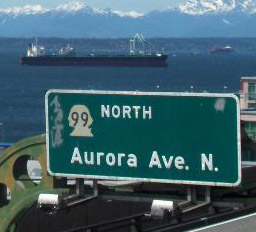 Aurora - the North South highway through the heart of Seattle